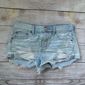 American Eagle Distressed Denim Shorts